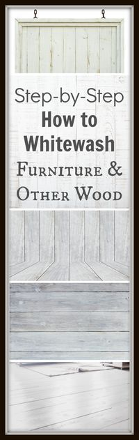 I've been whitewashing quite a few pieces of furniture lately and really loving the way it looks. Here is the basic technique I use for… View the slideshow below to …