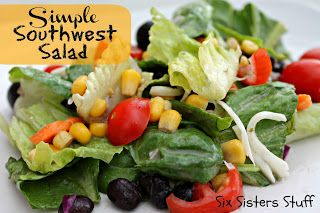 Simple Southwest Salad from Sixsistersstuff.com #side dish #salad