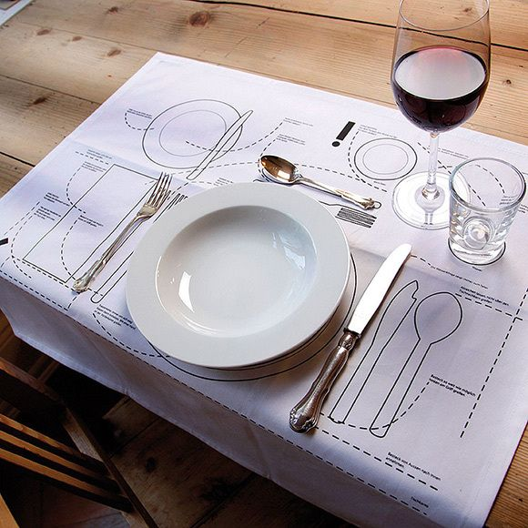 Cheat sheet placemat - for all your etiquette needs!  Also, totally DIYable.