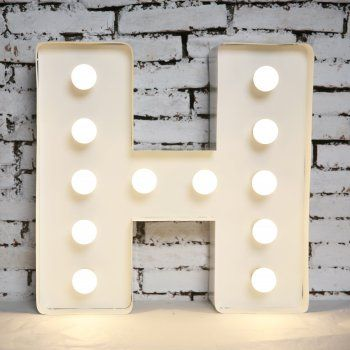 "Vegas Letters Vegas Style Show Light ""H"" - Vegas Letters from Cult Furniture UK"
