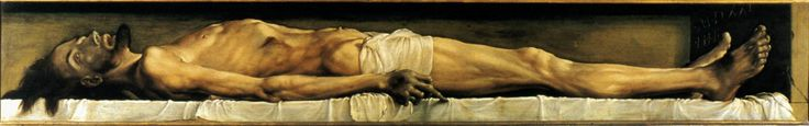 """Hans Holbein the Younger: """"The Body of the Dead Christ in the Tomb"""" (1521)"""