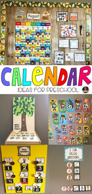 Setting up your Calendar Area for Success in Preschool