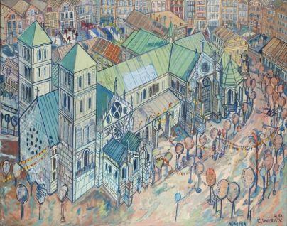 Edward Dwurnik - Katedra w Munster, 1984
