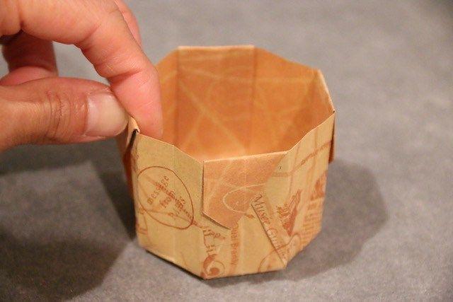 折り紙1枚で簡単 8角形の箱の作り方 マフィンカップの代用もできる