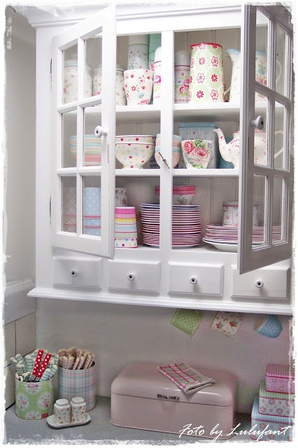 need at least one cabinet with glass panes