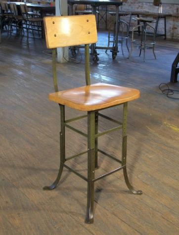 Vintage Industrial Adjustable Stool    Get Back Inc.    Salvaged And  Restored Industrial
