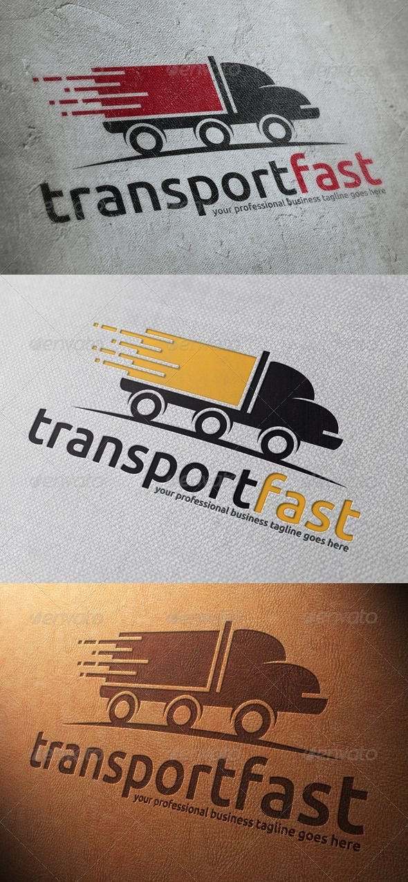 Transport Truck Logo Template — Vector EPS #road movement #velocity • Available here → https://graphicriver.net/item/transport-truck-logo-template/4812737?ref=pxcr