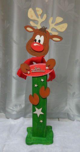 Deko-Holzpfosten-Weihnachtliche-Holzdeko-Holzfiguren-versch-zur-Auswahl-NEU
