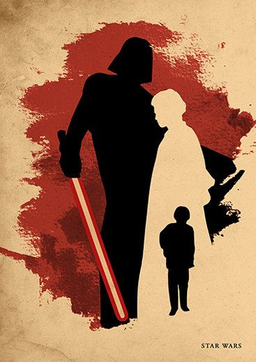 Star Wars Anakin Skywalker Darth Vader Minimalist by moonposter