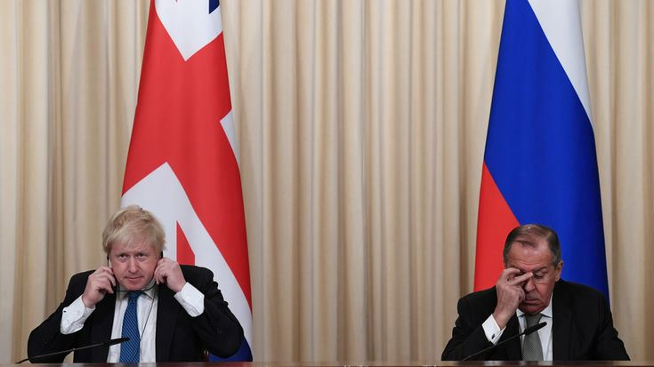 Sergey Lavrov was seen smiling and chuckling as Boris Johnson implied on Friday that Russia had attempted, unsuccessfully, to meddle in UK politics. The British FM had previous said there was no evidence of Russian interference.