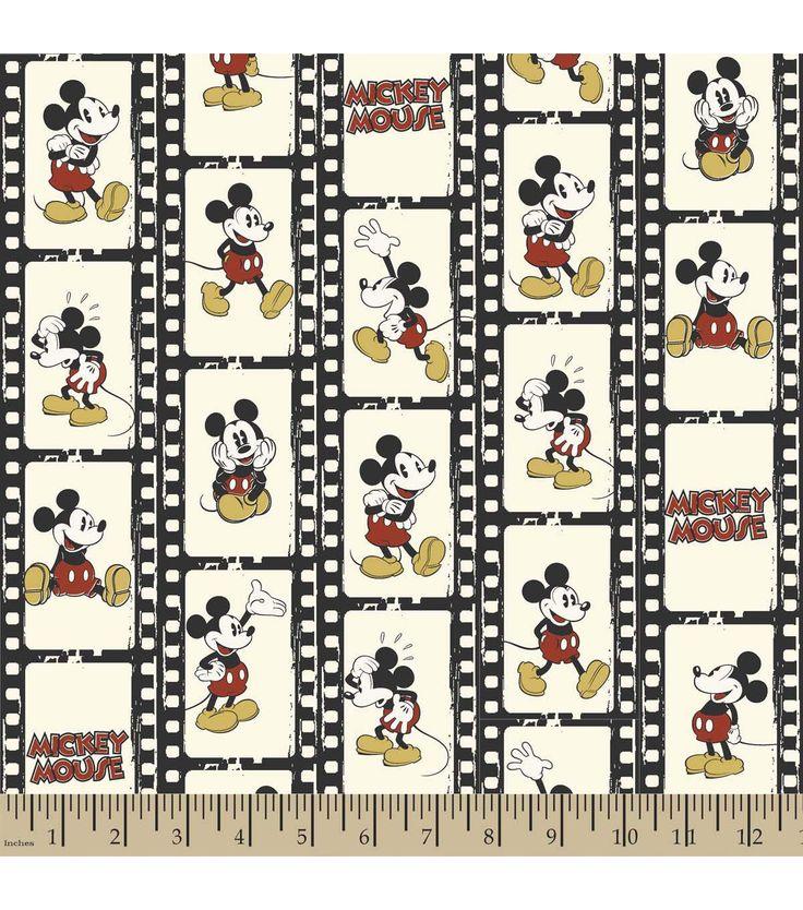 Disney® Mickey Filmstrip Linear Flannel Fabric