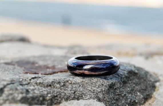Ebony Wooden Ring – Handcrafted Wood Wedding Ring, Gift for Him – Couples Ring – Gift for Boyfriend – Rustic Wedding Ring – Friendship Ring