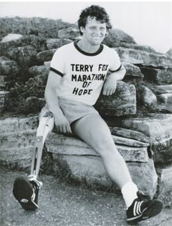 terry fox the true canadian hero Terry fox lost his leg to cancer when he was a teenager  during this run, the  marathon of hope, fox ran 28-30 miles per day on one real leg and  there is  also a mountain named after him in the canadian rockies and a.