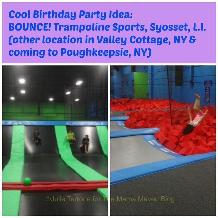 Cool #Birthday Party Idea: BOUNCE! Trampoline Sports #LongIsland