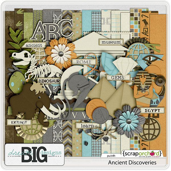 Dream Big Designs Digital Scrapbooking: Back to Ancient Times and Freebie