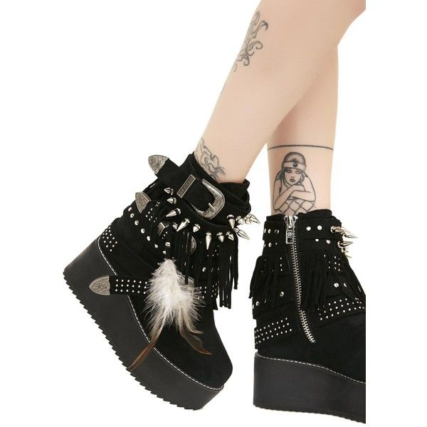 Current Mood Addax Wedges ($138) ❤ liked on Polyvore featuring shoes, black, silver wedge heel shoes, platform wedge shoes, silver shoes, platform shoes and wedge heel platform shoes