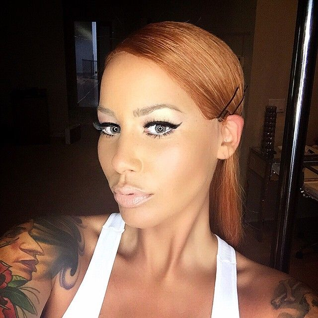 Amber Rose with Hair  - Click for more Celebrity Instagram Trolling!