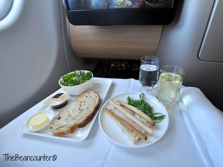 Qantas A330 business class Entree