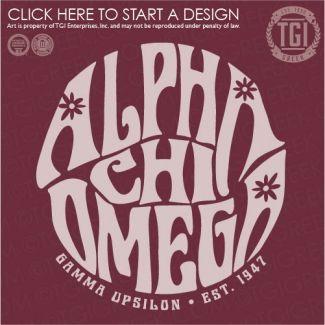 Alpha Chi Omega | AΧΩ | Birthday | PR | TGI Greek | Greek Apparel | Custom Apparel | Sorority Tee Shirts | Sorority T-shirts | Custom T-Shirts
