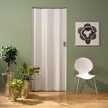 Porte accordéon vitrée Grosfillex 'Larya' PVC blanc 205 x 84 cm | Plan-it