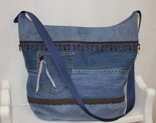 Tasche Patchwork Jeans Upcycling