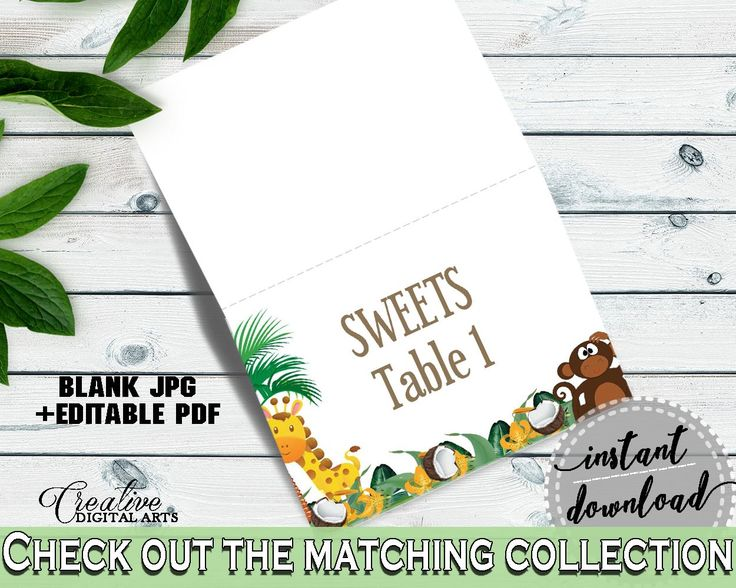 Food Tents Baby Shower Food Tents Jungle Baby Shower Food Tents Baby Shower Jungle Food Tents Green Brown shower activity - EJRED - Digital Product #babyshowergifts #babyshowerideas
