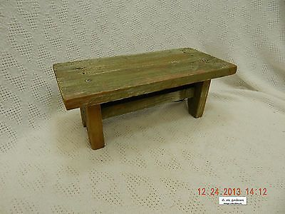 """WOODEN STEP STOOL! 11 1/2""""! FASHIONED FROM BARNWOOD! FARM AUCTION FIND! AS IS!"""