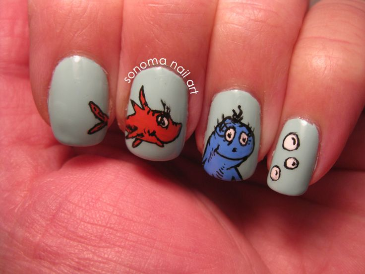 Sonoma Nail Art: One Fish Two Fish. Happy Birthday to Dr. Seuss on - Best 25+ Fish Nail Art Ideas On Pinterest Fish Nails, Beach Nail