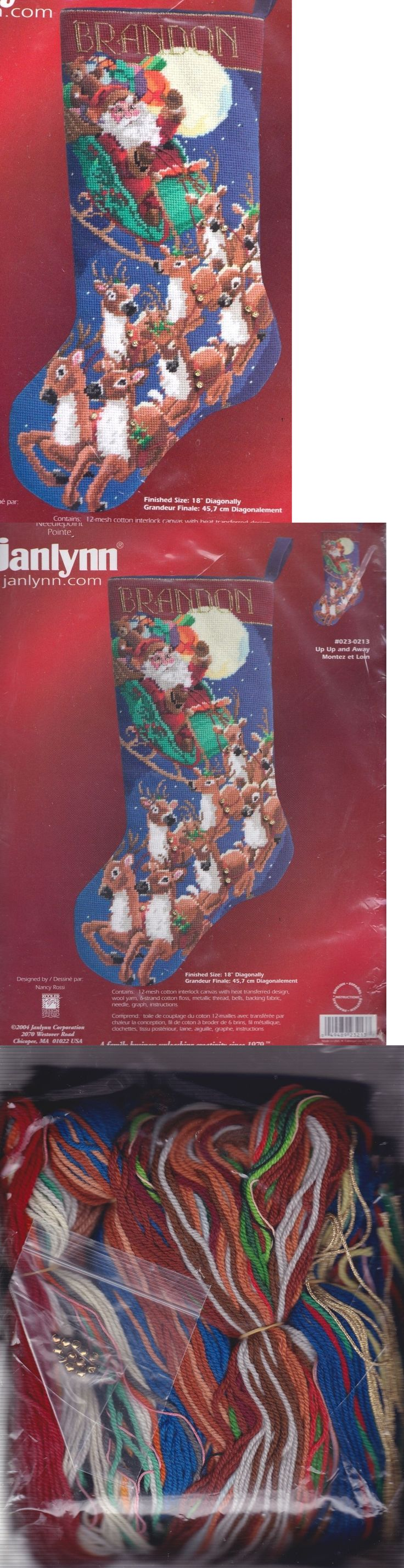 Needlepoint Kits 3109: Janlynn Up Up And Away Santa Sleigh Christmas Needlepoint Stocking Kit 023 0213 -> BUY IT NOW ONLY: $178.95 on eBay!