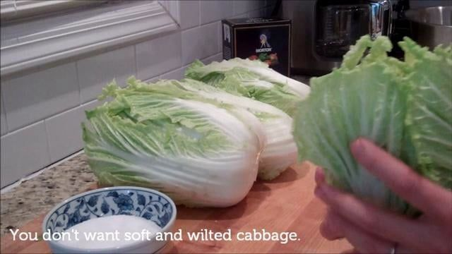 Cabbage Kimchi (Mak Kimchi)