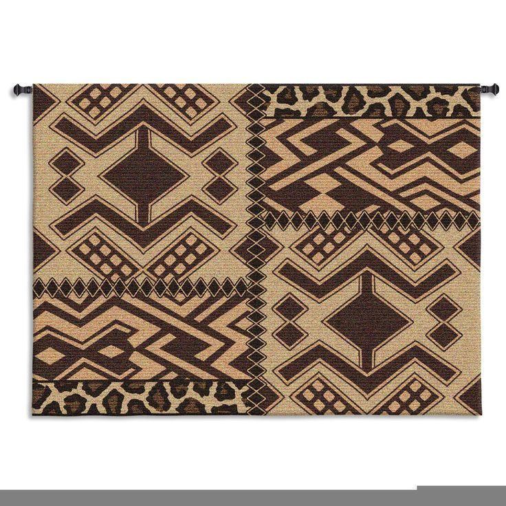 Kuba Patterns Wall Tapestry