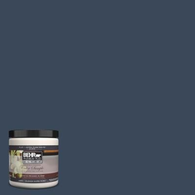 BEHR Premium Plus Ultra 8 oz. #M500-7 Very Navy Interior/Exterior Paint Sample-UL20316 - The Home Depot