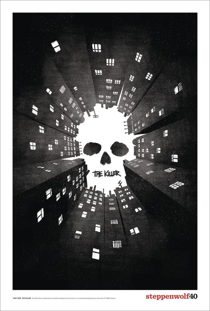 Poster for The Killer by Michael Zang for  Steppenwolf Theatre