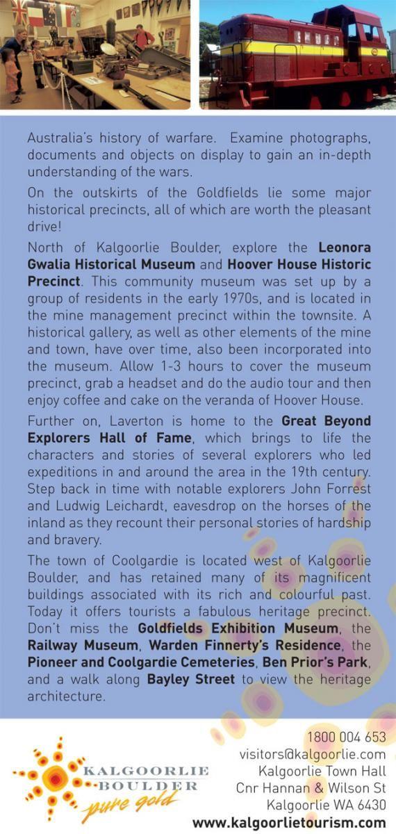 Goldfields Museums | Kalgoorlie Boulder Tours Accommodation Information