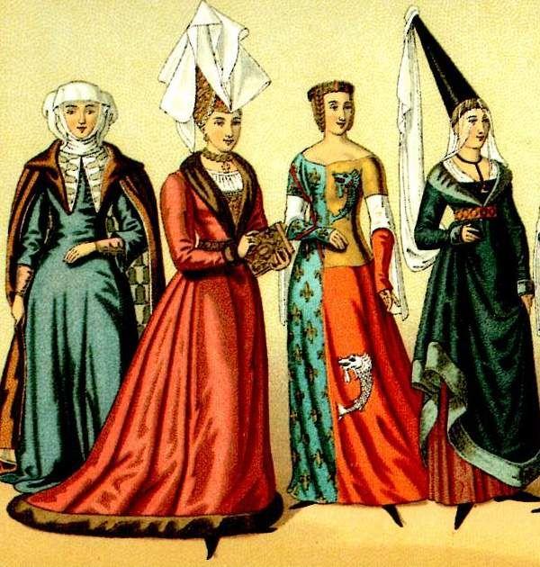 sus vestidos de colores y sus sombreros puntiagudos daban gran estetica a sus  prendas aunque solo los utilizaban las mujeres