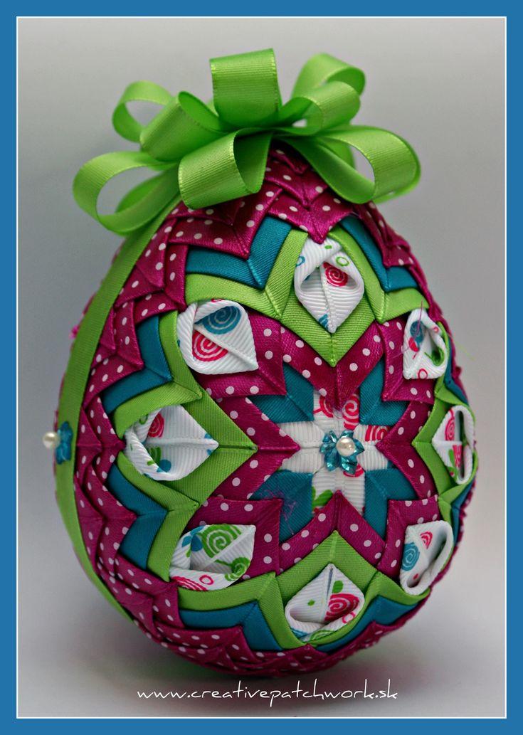 patchworkove vajíčko www.creativepatchwork.sk