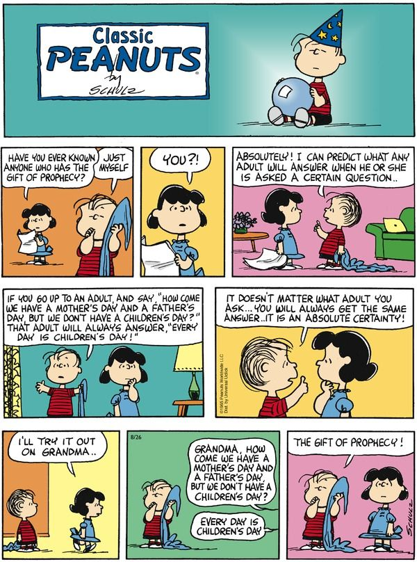 CHARLIE BROWN CARTOOB AND WORDS OF WISDOM The Gift of Prophecy - Tuesday, September 04, 2012