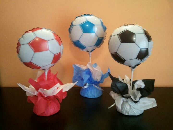 Fiesta de futbol | centros de mesa | Pinterest