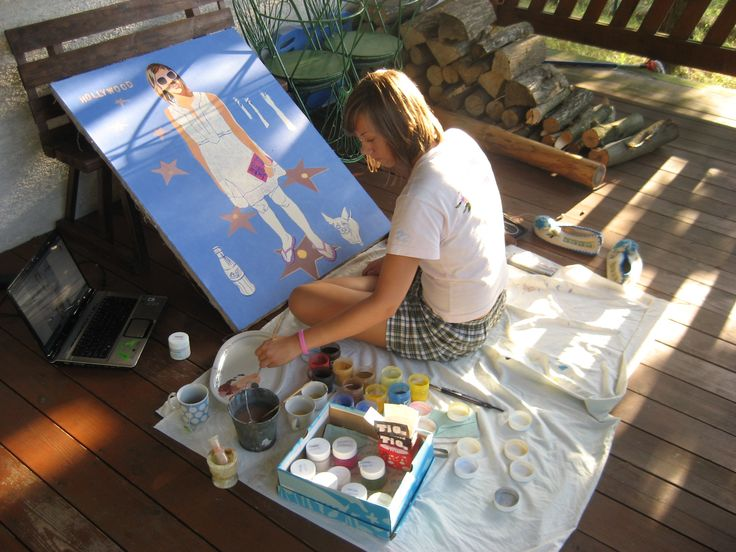 """One of the first paintings painted with yolk tempera - """"Hwood"""", summer of 2008."""