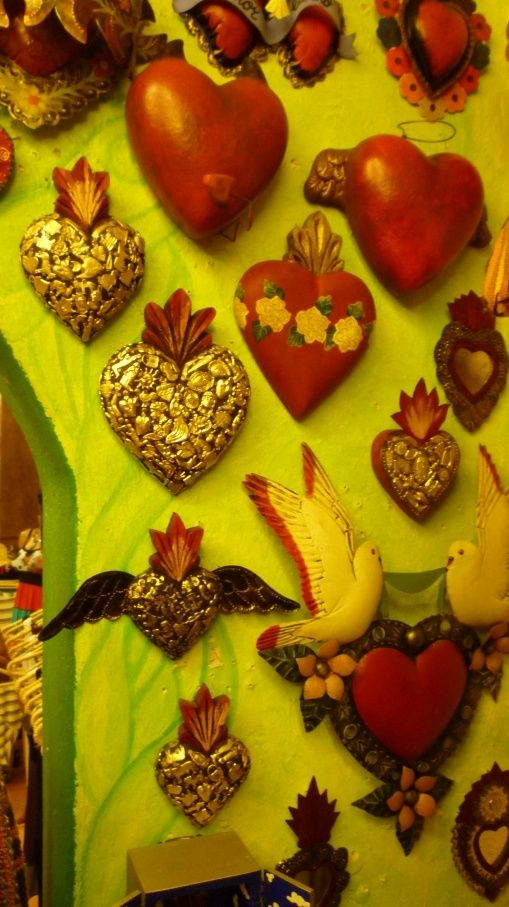 Hearts Mexican Folk Art | folk - mexican folk art | Viva La Mexico | Pinterest