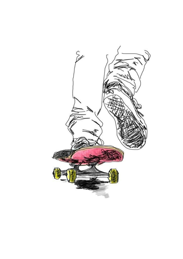 College Basketball Skate Ilustration Skate Ilustration Tatuajes Skate Spitfire Skate Skate Or Die Skate Dibujo A Skate Art Skate Tattoo Skateboard Art