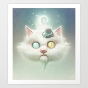 Release the Odd Kitty!!! Art Print by Dr. Lukas Brezak: Art Illustrations, Cheshire Cat, Digital Paintings, Alice In Wonderland, Art Prints, Czech Republic, Wound Brezak, Cat Stuff, Digital Prints
