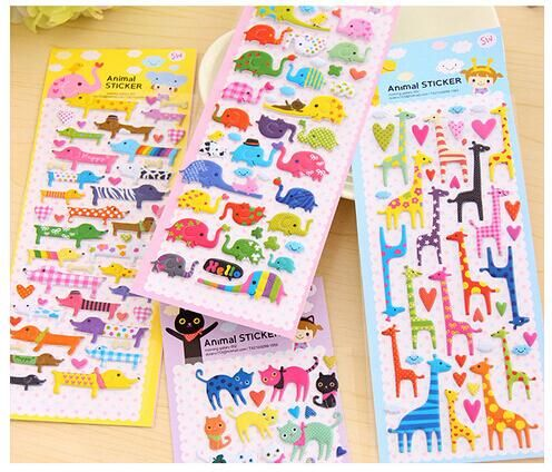 elephant cat dog giraffe 3D sticker/ Cartoon PVC animal Decoration label Multifunction DIY stickers / Sign post / wholesale-in Stationery Sticker from Office & School Supplies on Aliexpress.com | Alibaba Group
