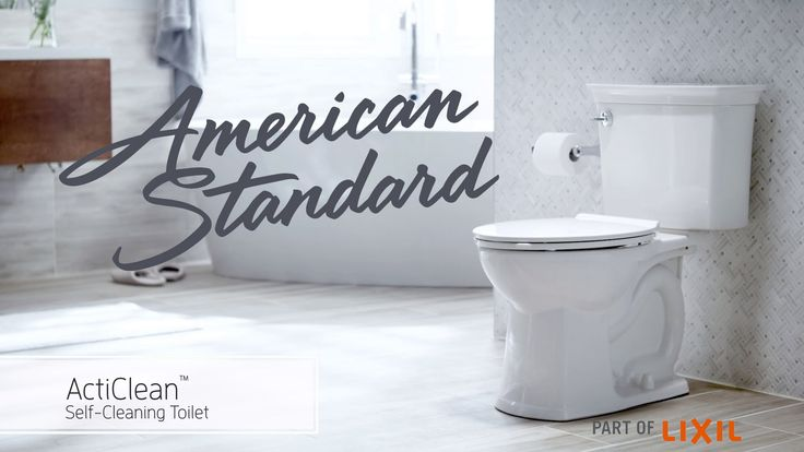 Meet the ActiClean Self-Cleaning Toilet from American Standard. Featuring a 1-minute quick-clean cycle for regular upkeep, and a longer, 10-minute deep-clean...