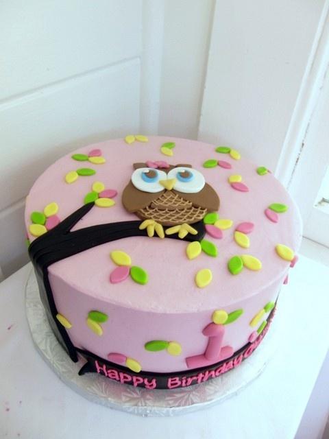 Owl Fondant Cake... ideas to make for BB Monday