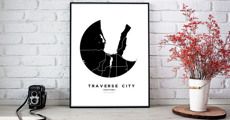 Traverse City | Custom Map Maker – Make Your Own Map Poster Online - YourOwnMaps