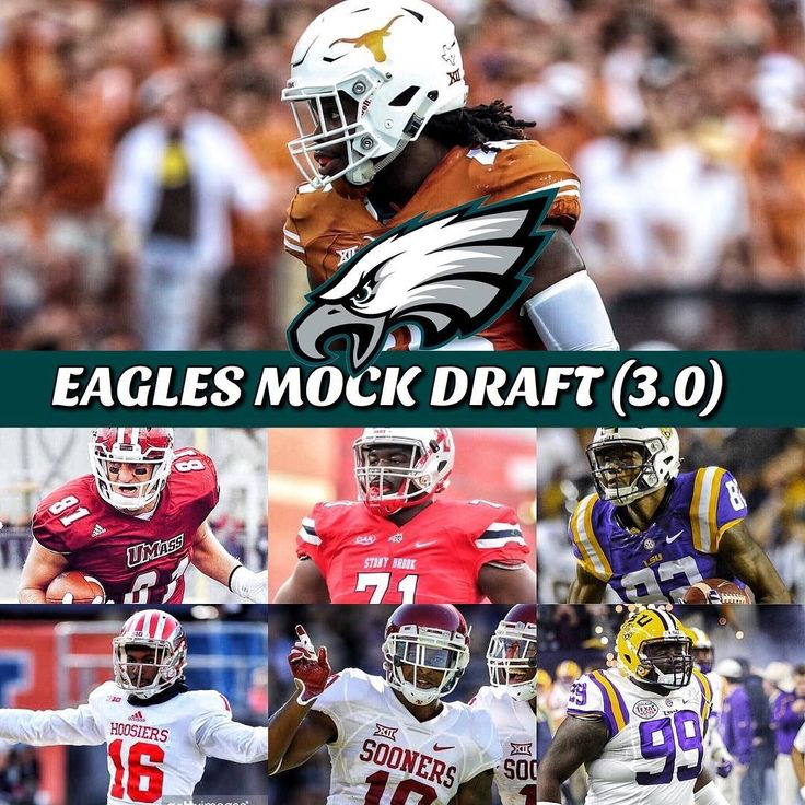 Eagles Mock Draft: (3.0) Round 1: Malik Jefferson LB Texas TRADE: Eagles send Vinny Curry to Lions for 2018 4th round pick Round 4: Adam Breneman TE UMass Round 4: Timon Parris OT Stony Brook Round 4: DJ Chark WR LSU Round 5: Rashaun Fant CB Indiana Round 5: Steven Parker S Oklahoma Round 6: Greg Gilmore DT LSU Thoughts on this one? ______________________________________________ #EaglesNation #eeoffseason2018 #Eagles #FlyEaglesFly #GoEagles Learn more Philadelphia Eagles…