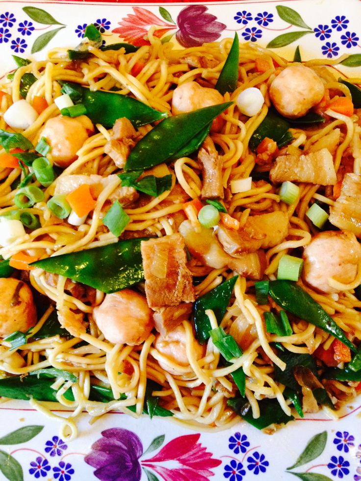 Oriental fried noodles for chinese new year- represent long life ...