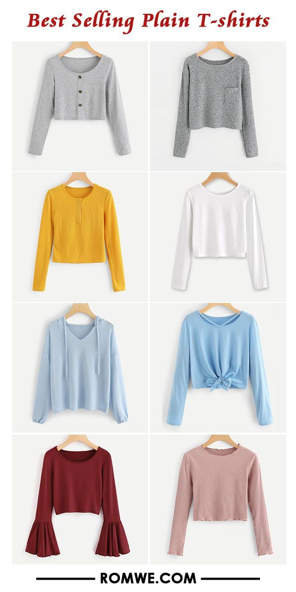 84580341 Best Selling Plain T-shirts   Women's Fall Fashion Outfits   Women's ...