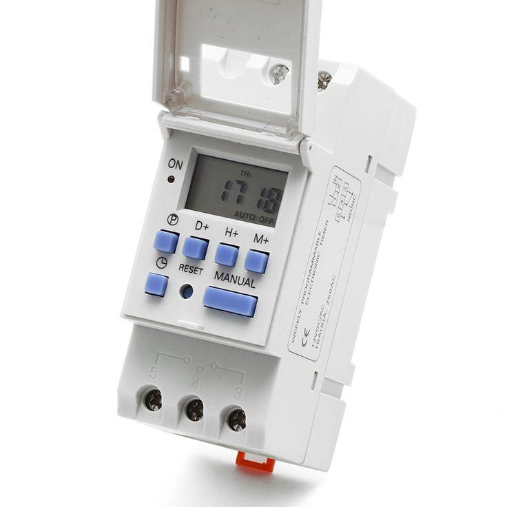 $7.93 (Buy here: https://alitems.com/g/1e8d114494ebda23ff8b16525dc3e8/?i=5&ulp=https%3A%2F%2Fwww.aliexpress.com%2Fitem%2FNew-DIN-Rail-Time-Relay-Switch-Digital-LCD-Power-Programmable-Timer-DC-12V%2F32785835109.html ) New DIN Rail Time Relay Switch Digital LCD Power Programmable Timer DC 12V for just $7.93